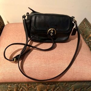 Coach New Condition Black Leather Crossbody